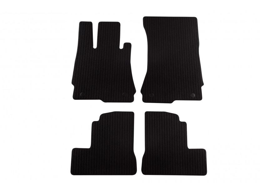 Мокетени стелки Petex за Mercedes S класа W221 къса база 2005-2013, 4 части черни (B064) Remo материя