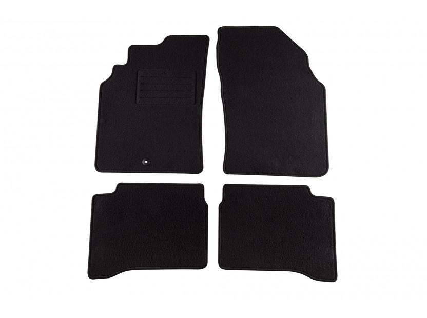 Мокетни стелки Petex съвместими с Nissan P11 1996-1999, 4 части, черни, материя Rex