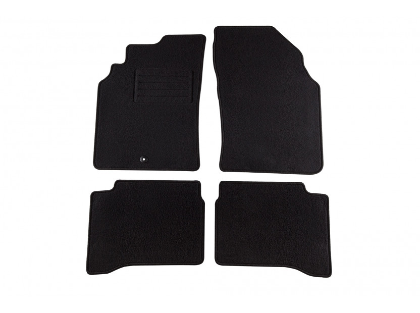 Мокетни стелки Petex за Nissan P11 1996-1999, 4 части, черни, материя Rex