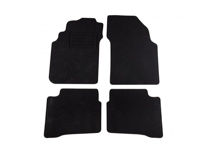 Мокетни стелки Petex съвместими с Nissan P11 1999-2002, 4 части, черни, материя Rex