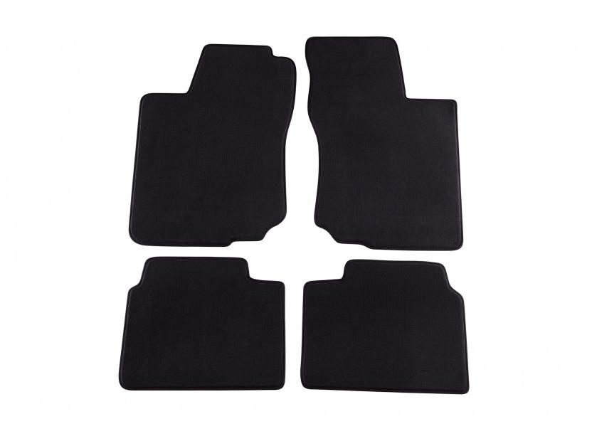 Мокетени стелки Petex за Opel Corsa B 1993-09/2000/Tigra A 1994-08/2000 4 части черни (KL01) Style материя