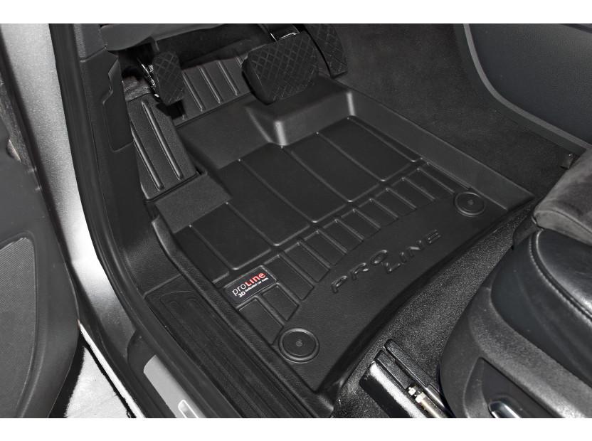 3D гумени стелки Frogum за Audi Q7 2006-2015, 4 части, черни 2