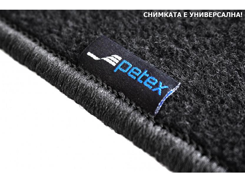 Мокетени стелки Petex за Nissan P12 2002-2007, 4 части, черни, материя Rex (B011U) 3