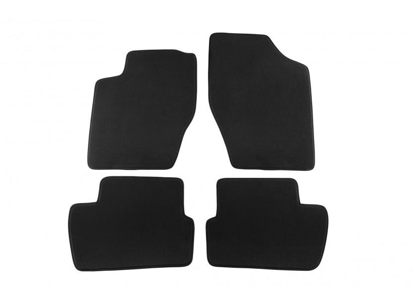 Мокетени стелки Petex за Peugeot 307 SW/Hatchback 06/2001-2007 4 части черни (B232) Style материя