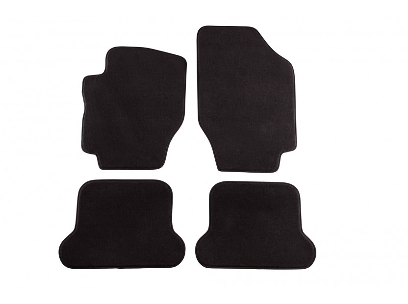 Мокетени стелки Petex за Peugeot 307 CC 11/2003-03/2009 4 части черни (B234) Style материя