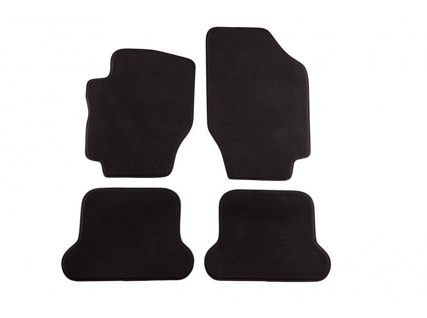 Мокетни стелки Petex съвместими с Peugeot 307 CC 2003-2009, 4 части, черни, материя Style, захват B234