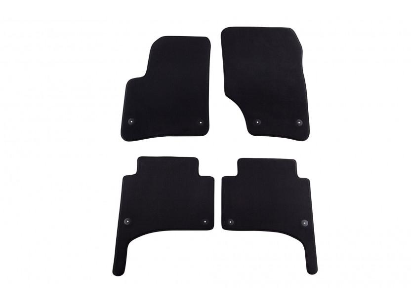 Мокетни стелки Petex съвместими с Porsche Cayenne 2002-2010, 4 части, черни, материя Style, захват B01E8