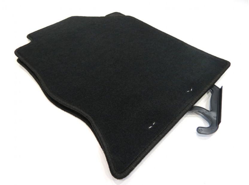 Мокетни стелки Petex съвместими с Ford Focus 1998-2001, 4 части, черни, материя Rex, захват KL01 4