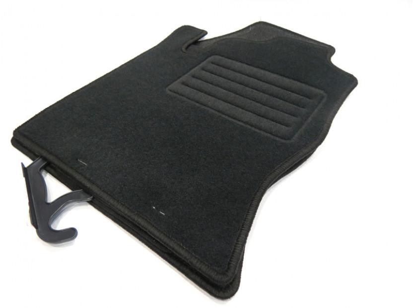 Мокетни стелки Petex съвместими с Ford Focus 1998-2001, 4 части, черни, материя Rex, захват KL01 10