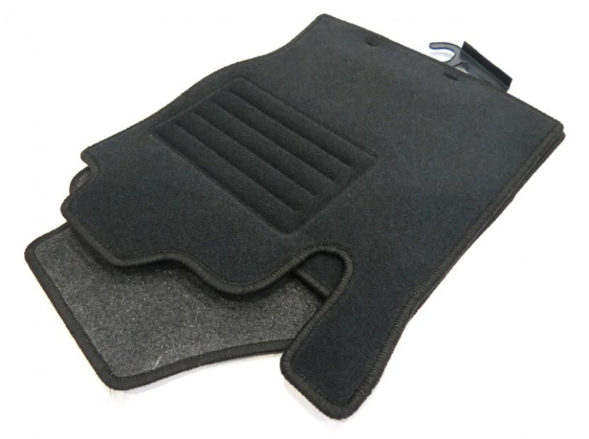 Мокетни стелки Petex съвместими с Ford Focus 1998-2001, 4 части, черни, материя Rex, захват KL01 8