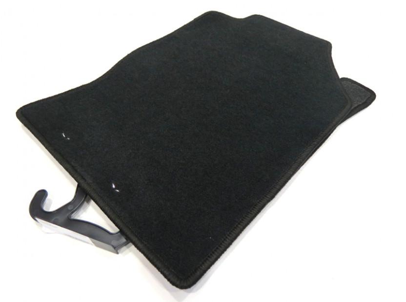 Мокетни стелки Petex съвместими с Ford Focus 1998-2001, 4 части, черни, материя Rex, захват KL01 2