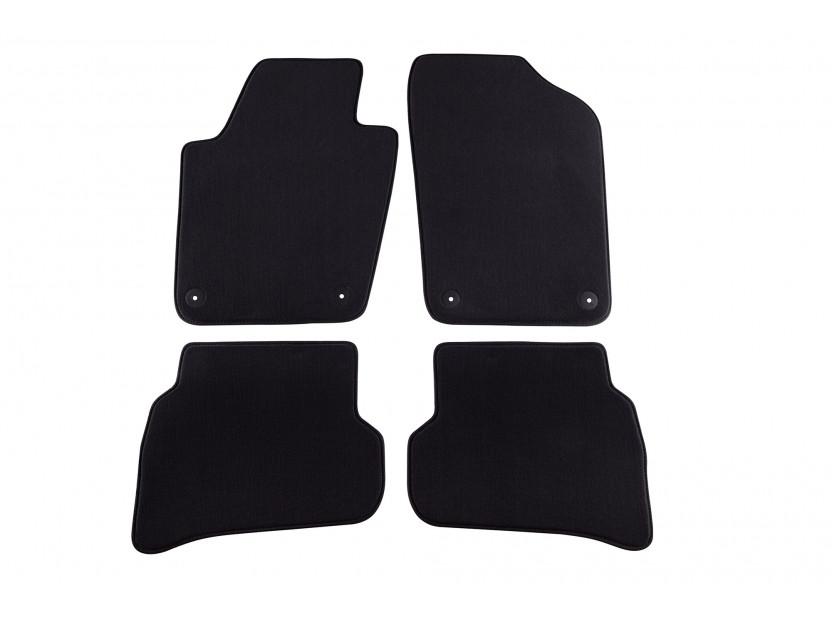 Мокетени стелки Petex за Seat Ibiza 2008 =>/Ibiza CT 06/2010 => 4 части черни (B014) Style материя