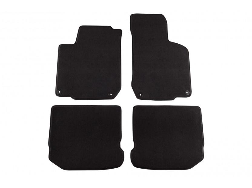 Мокетни стелки Petex съвместими със Seat Toledo, Leon 1999-2005, 4 части, черни, материя Style, захват B014U