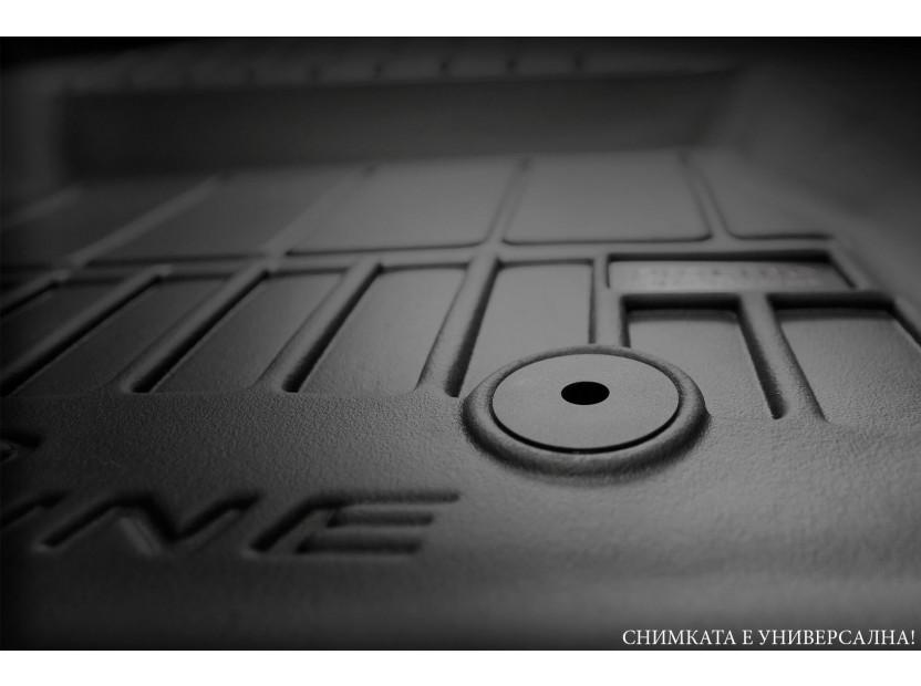 3D гумени стелки Frogum за Audi A4 B9 след 2016 година, 4 части, черни 3