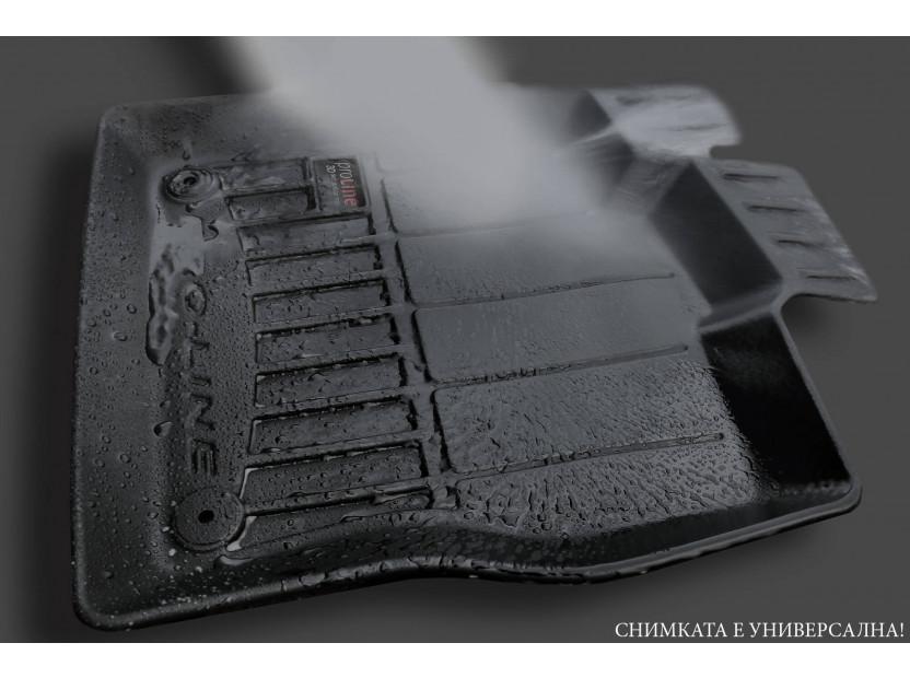3D гумени стелки Frogum за Audi A4 B9 след 2016 година, 4 части, черни 5