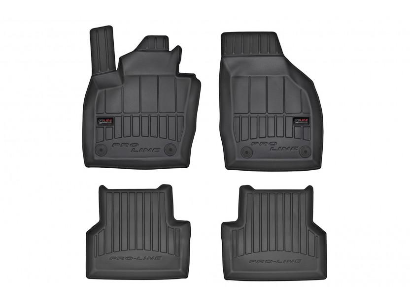 3D гумени стелки Frogum за Audi Q3 2011-2018, 4 части, черни