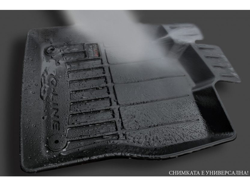 3D гумени стелки Frogum за Volkswagen Touareg след 2018 година, 4 части, черни 7