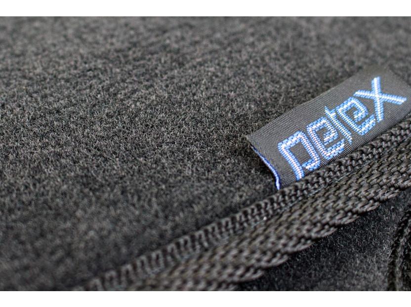 Мокетни стелки Petex съвместими с Skoda Fabia 2007-2014, 4 части, черни, материя Style, захват B01A4 7