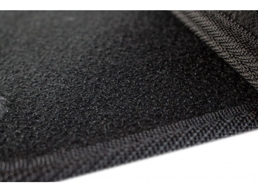 Мокетни стелки Petex съвместими с Skoda Fabia 2007-2014, 4 части, черни, материя Style, захват B01A4 6