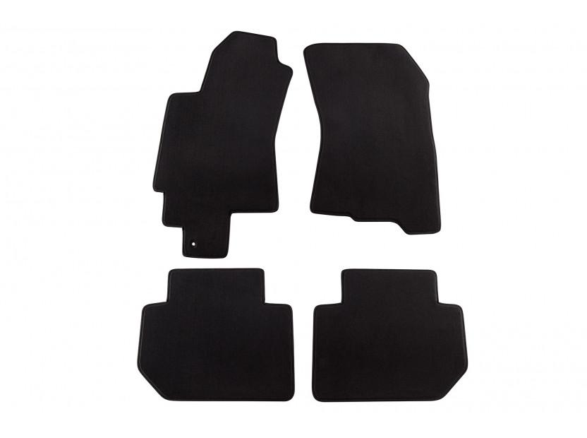 Мокетни стелки Petex съвместими със Subaru B9 Tribeca 2006-2010, 5 места, 4 части, черни, материя Style, захват B161