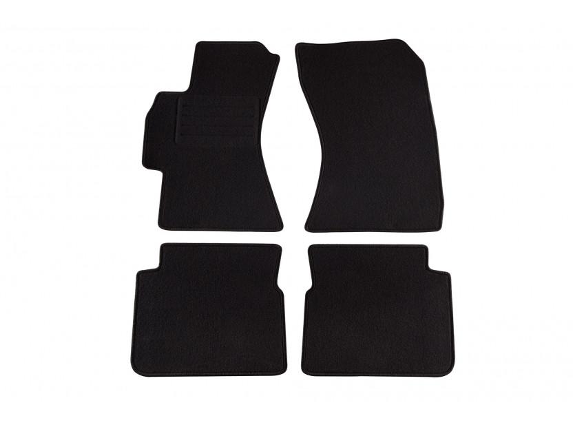 Мокетни стелки Petex за Subaru Impreza, Forester 2008-2013, 4 части, черни, материя Rex, захват KL01