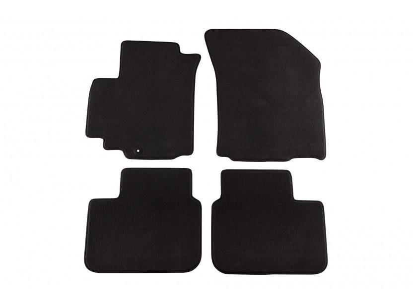 Мокетни стелки Petex съвместими със Suzuki SX4 2006-2014, 4 части, черни, материя Style, захват B051U