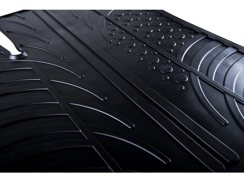 Гумени стелки Gledring за Audi A1 2010-2018 4 части черни 4