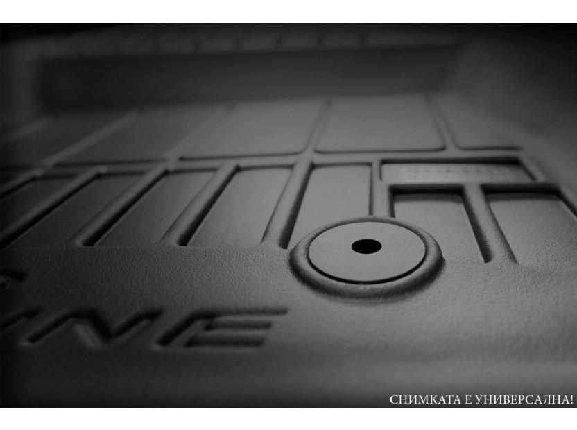 3D гумени стелки Frogum за BMW Серия 1 F20/ F21 след 2011 година, 4 части, черни 3