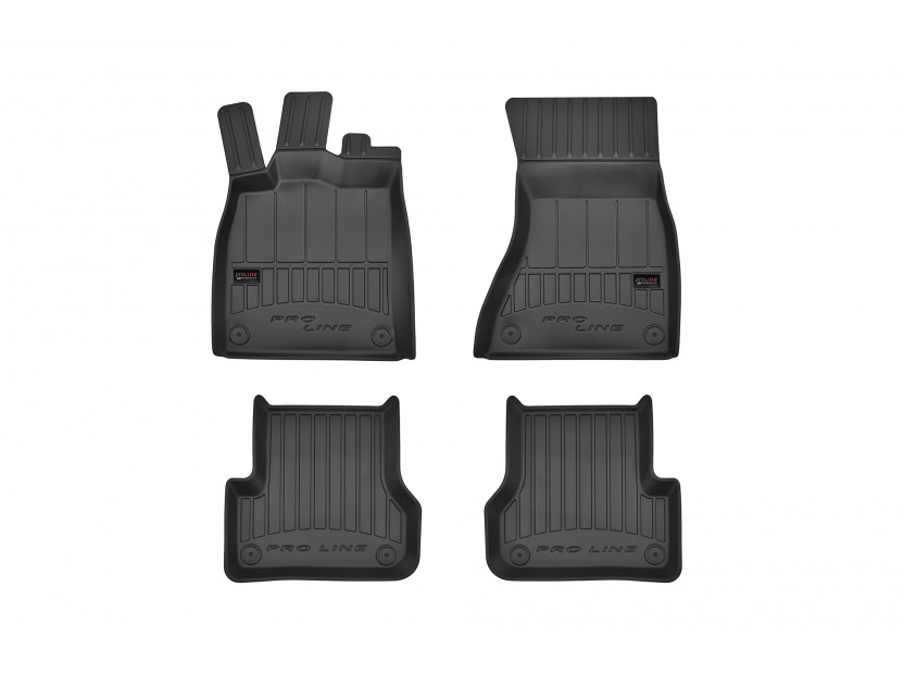3D гумени стелки Frogum за Audi A6 2011-2017, 4 части, черни