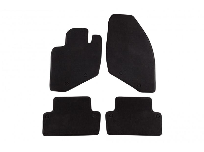 Мокетени стелки Petex за Volvo S60 11/2000-08/2010 4 части черни (B158) Style материя