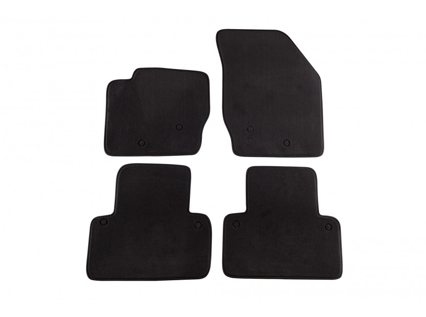 Мокетени стелки Petex за Volvo XC 90 5-7 места 01/2003 => 4 части черни (B158) Style материя