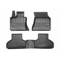 3D Гумени стелки Frogum съвместими с BMW X5 F15 2013-2018, 4 части, черни