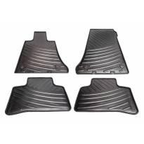 Гумени стелки за Mercedes GLK X204 2013-2015, 4 части, черни