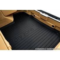 Стелка за багажник DRY ZONE съвместима с Ford Focus комби след 2018 година в горно положение на багажника, със странични джобове и временна резервна гума
