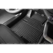 Гумени стелки Frogum за Fiat Fullback двойна кабина, Mitsubishi L200 след 2016 година, 4 части черни