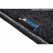 Мокетни стелки Petex съвместими със Seat Leon хечбек, комби 2012-2020, 4 части, черни, материя Rex