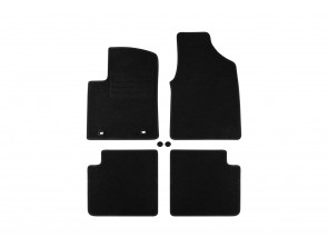 Мокетени стелки Petex за Ford KA 2008-2012 4 части черни (B022U) Rex материя