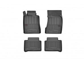 3D гумени стелки Frogum за Mercedes E класа W211 2002-2009, 4 части, черни