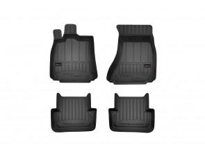 3D гумени стелки Frogum за Audi A4 B8 2008-2015 седан/комби/allroad, 4 части, черни