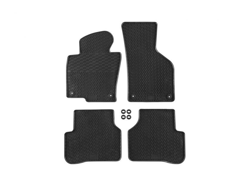 Гумени стелки Geyer & Hosaja за VW Passat B6 2005-2010/ Passat B7 2010-2014/ Passat CC 2008-2011 4 части черни - 1