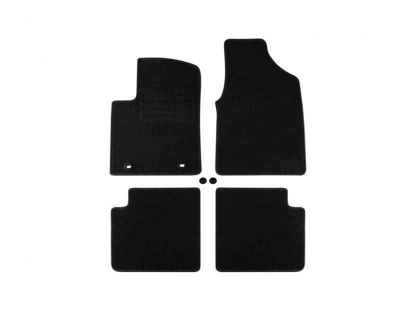 Мокетени стелки Petex за Ford KA 2008-2012 4 части черни (B022U) Rex материя - 1