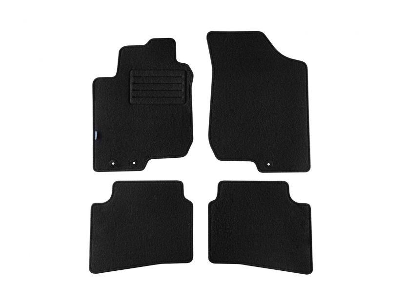 Мокетени стелки Petex за Hyundai i30 2009-2012 4 части черни (B013) Rex материя - 1