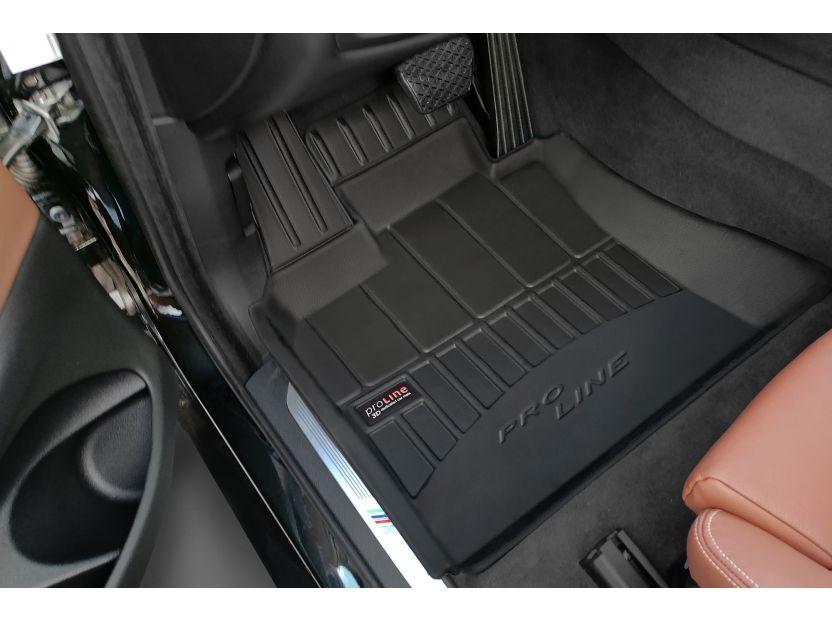 3D гумени стелки Frogum за BMW X5 F15 2013-2018, 4 части, черни - 3