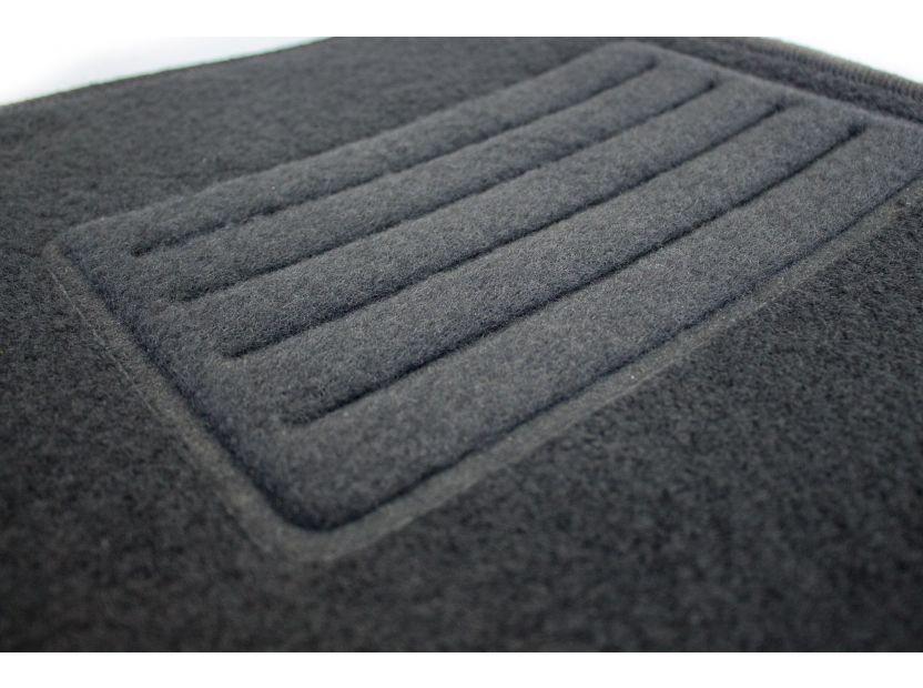 Мокетени стелки Petex за Ford Fiesta 9/2008-1/2011 4 части черни (B022U) Rex материя - 3