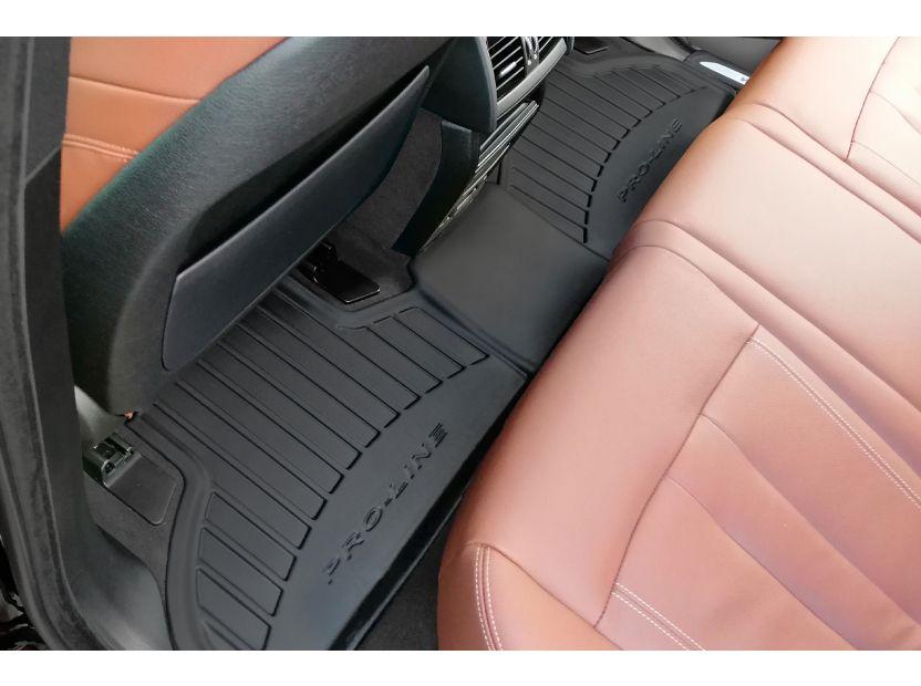 3D гумени стелки Frogum за BMW X5 F15 2013-2018, 4 части, черни - 5