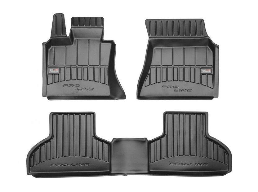 3D гумени стелки Frogum за BMW X5 F15 2013-2018, 4 части, черни - 1