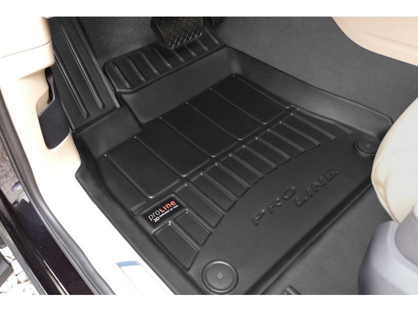 3D гумени стелки Frogum за Volkswagen Touareg след 2018 година, 4 части, черни - 2