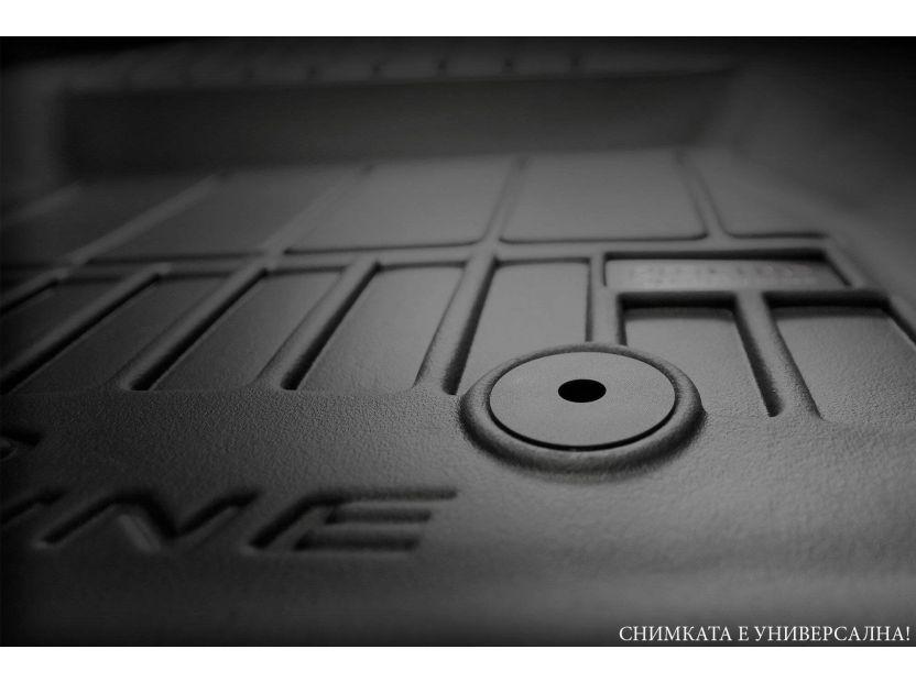 3D гумени стелки Frogum за BMW X5 F15 2013-2018, 4 части, черни - 6