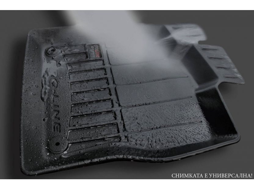 3D гумени стелки Frogum за BMW X5 F15 2013-2018, 4 части, черни - 7