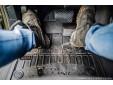 3D гумени стелки Frogum за Volkswagen Touareg след 2018 година, 4 части, черни 6